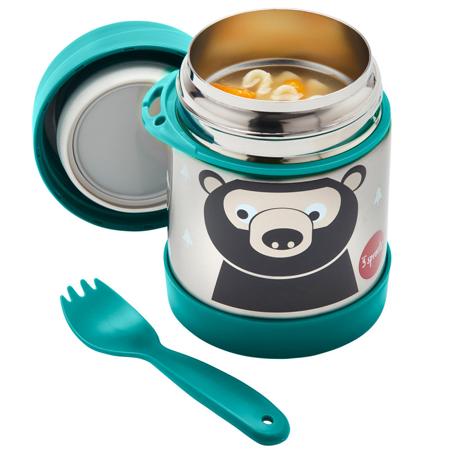 3Sprouts® Contenitore thermos cucchiaio/forchetta Orso