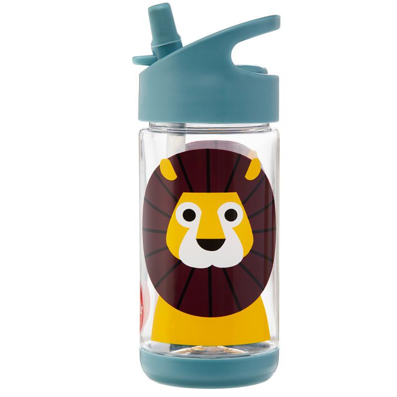 Immagine di 3Sprouts® Borraccia con Cannuccia di Silicone leone