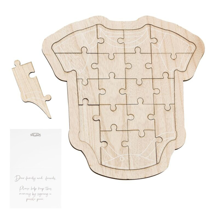 Ginger Ray® Puzzle in legno per ospiti Baby