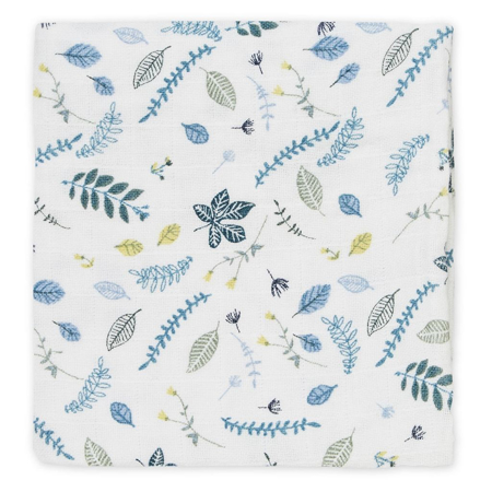 Immagine di CamCam® Set di pannolini tetra Pressed Leaves Blue 70x70