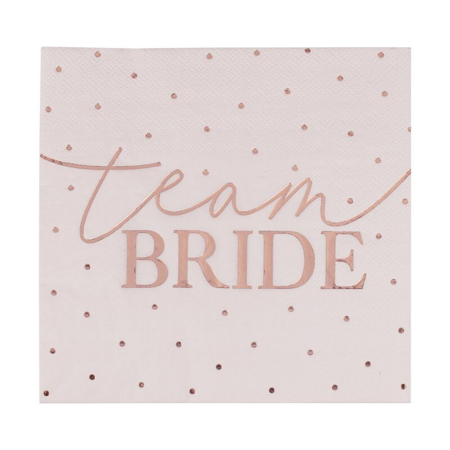 Ginger Ray® Tovaglioli Team Bride 16 pz