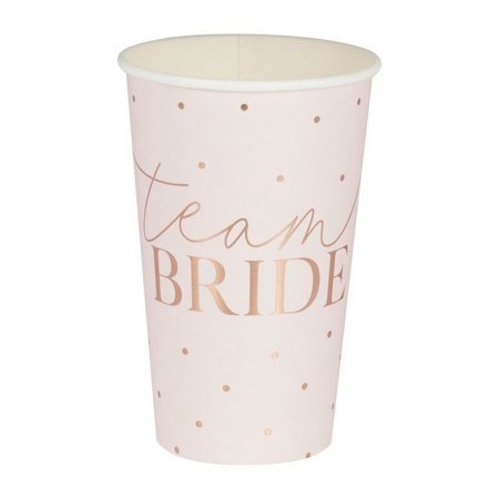 Immagine di Ginger Ray®  Bicchieri di carta Team Bride 8 pz