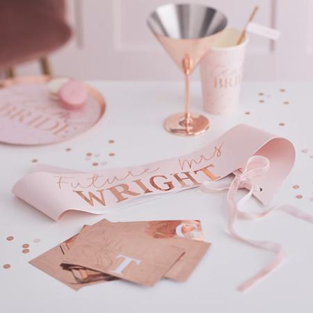 Immagine di Ginger Ray®  Bicchieri di carta Team Bride 8 pz