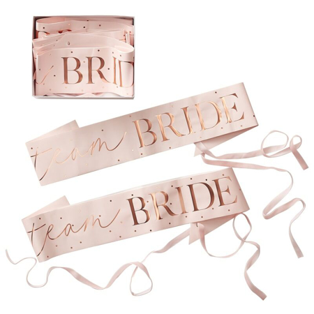 Immagine di Ginger Ray®  Cintura nastro Team Bride 6 pz