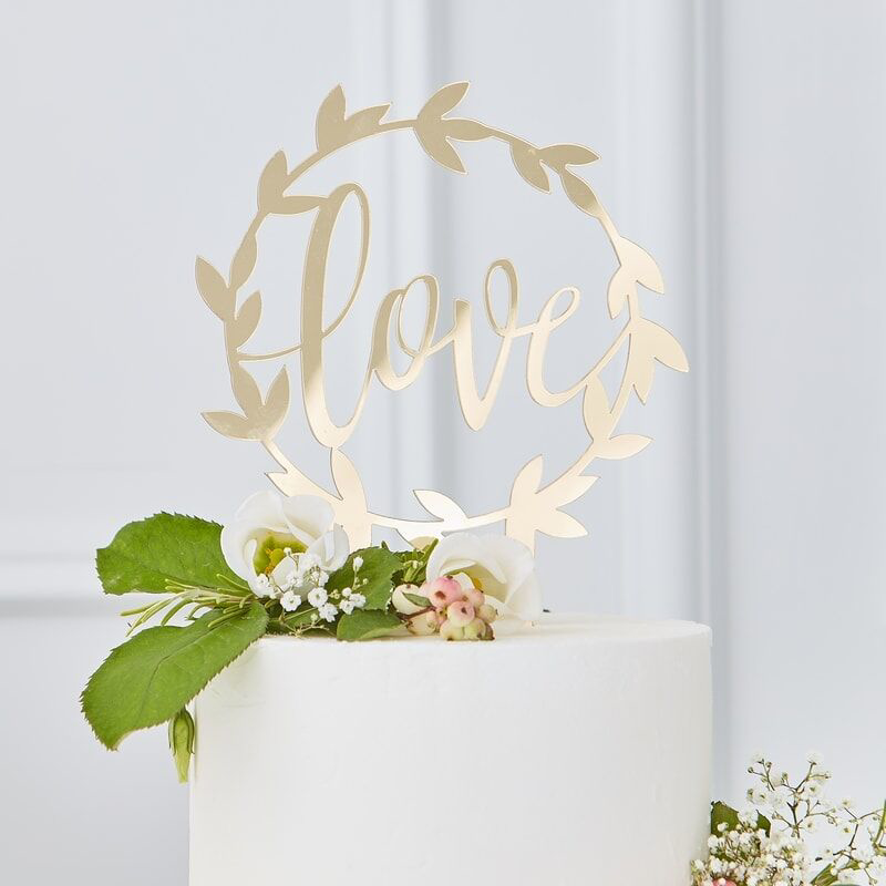 Immagine di Ginger Ray® Decorazione torta Gold Love