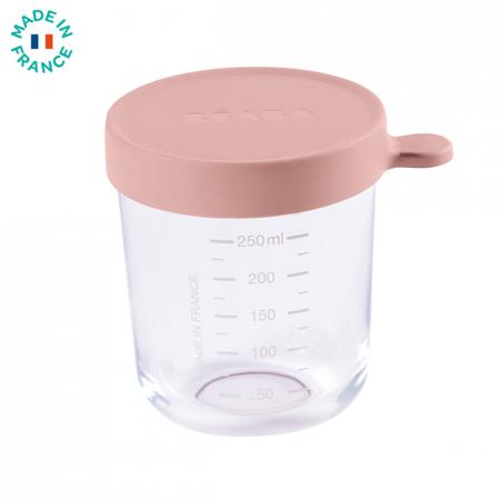 Beaba® Contenitore per alimenti in vetro 250ml Pink