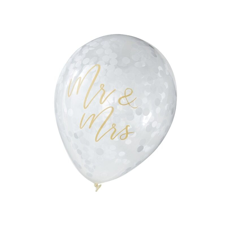Immagine di Ginger Ray® Palloncini Mr & Mrs