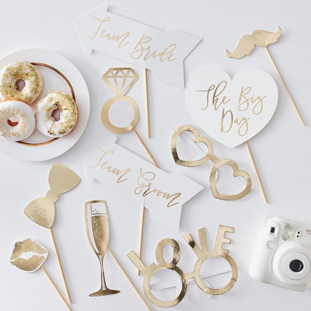 Immagine di Ginger Ray® Foto set Gold Wedding