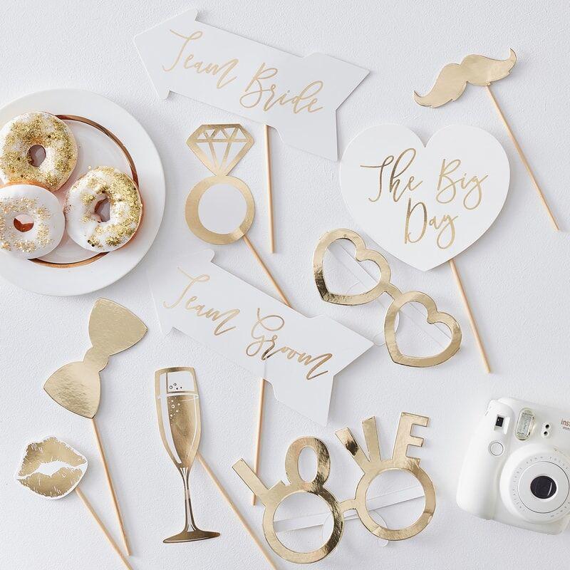Immagine di Ginger Ray® Foto set Gold Wedding