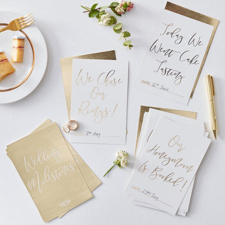 Immagine di Ginger Ray® Biglietti foto Gold Wedding