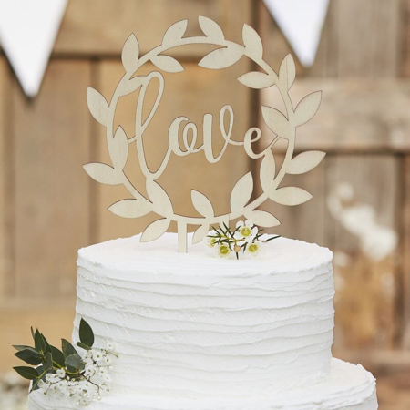 Immagine di Ginger Ray® Decorazione torta Love