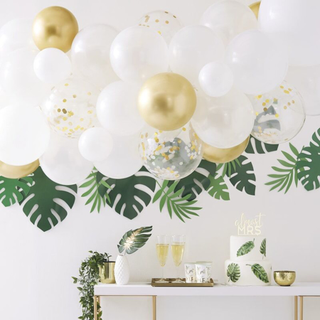 Immagine di Ginger Ray®Set  Arco palloncini Gold Chrome