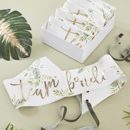 Immagine di Ginger Ray®  Cintura nastro Team Bride Botanical 6 pz