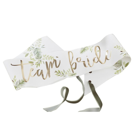 Immagine di Ginger Ray®  Cintura nastro Team Bride Botanical 6 pz
