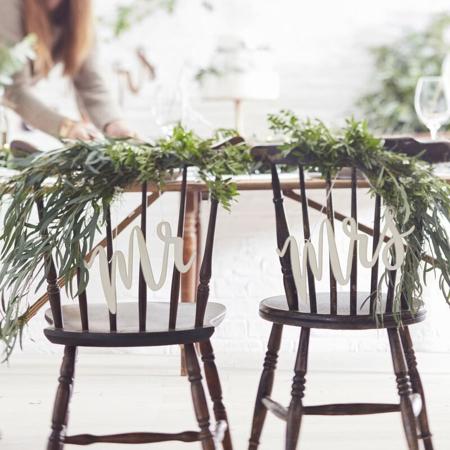 Immagine di Ginger Ray® Decorazione sedia Mr & Mrs