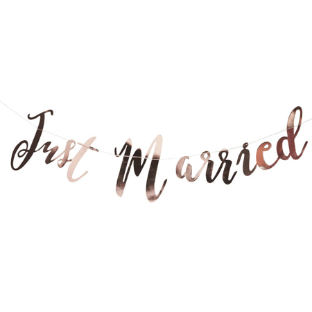 Ginger Ray®  Ghirlanda Rose Gold Just Married
