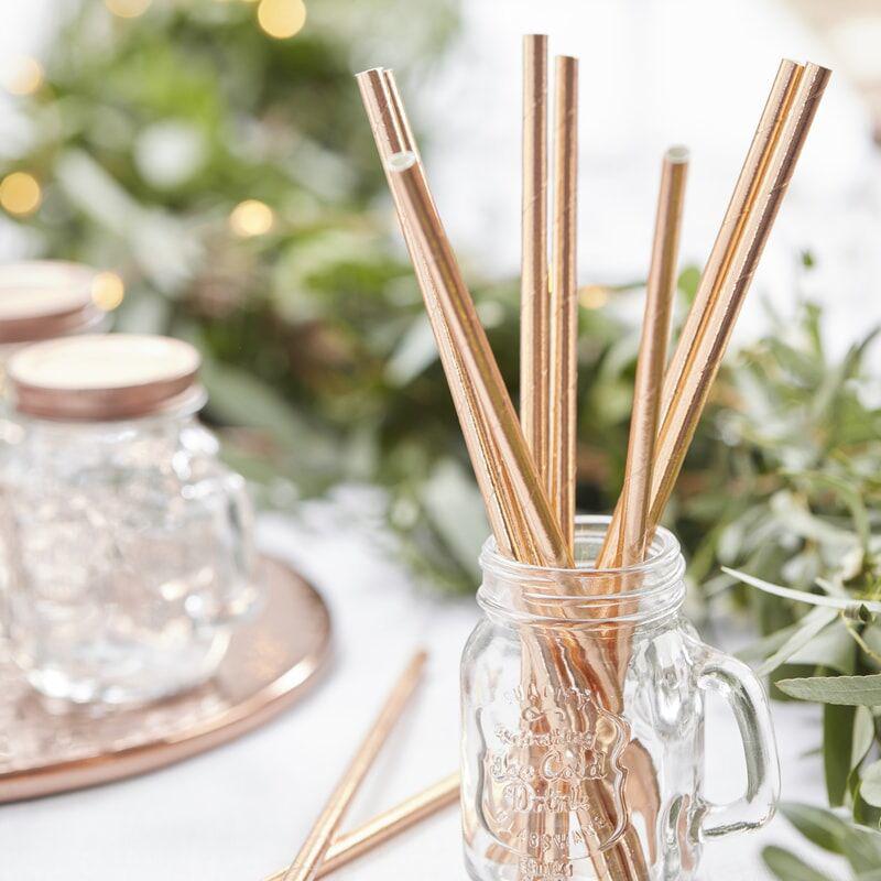 Immagine di Ginger Ray® Cannucce in carta Beautiful Botanics 25 pz