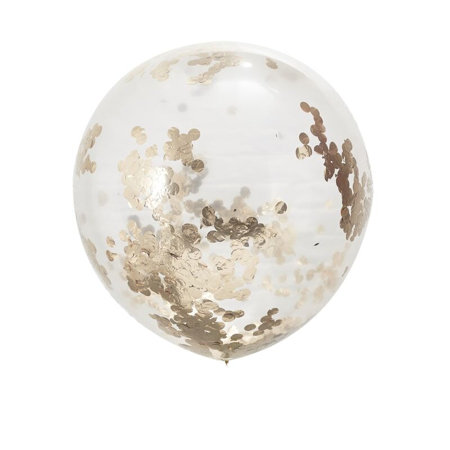 Immagine di Ginger Ray® Palloncino Large con coriandoli Rose Gold