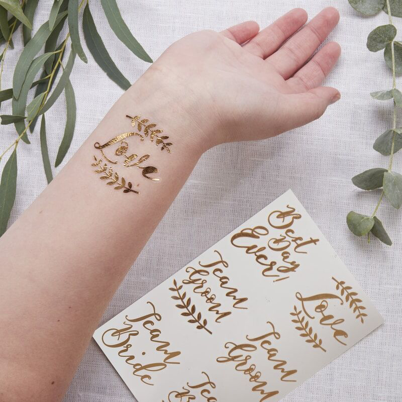 Immagine di Ginger Ray® Tattoo Rose Gold Beautiful Botanics 6 pz