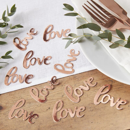 Immagine di Ginger Ray® Coriandoli decorativi da tavola Rose Gold Love