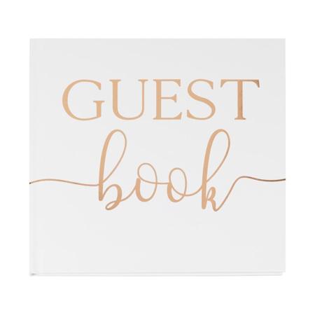 Immagine di Ginger Ray® Libro degli ospiti Rose Gold