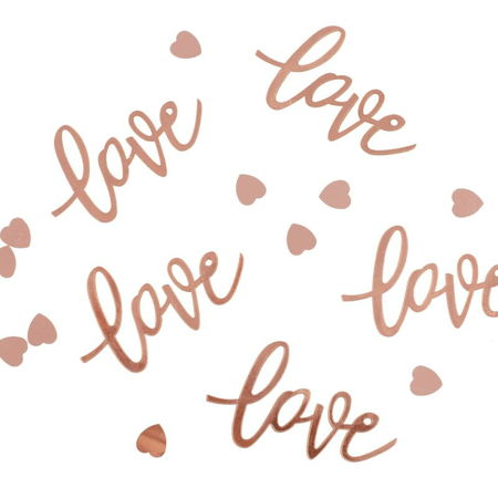 Ginger Ray® Coriandoli decorativi da tavola Rose Gold Love Hearts