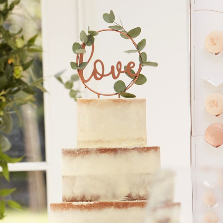 Immagine di Ginger Ray® Decorazione torta Love Rose Gold