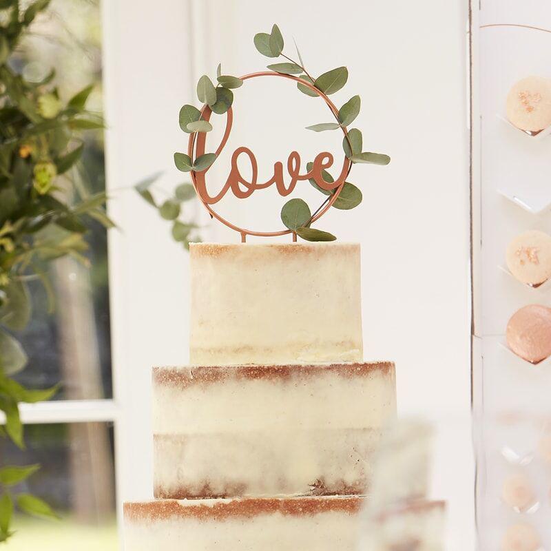 Immagine di Ginger Ray® Decorazione torta Love Rose Gold