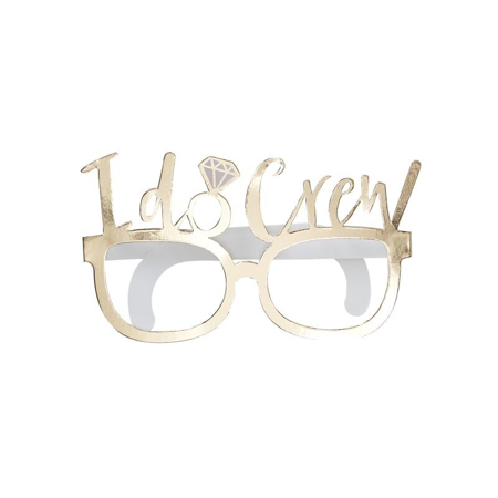 Immagine di Ginger Ray® Foto set I Do Crew Glasses