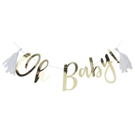 Immagine di Ginger Ray® Ghirlanda Gold Oh Baby!