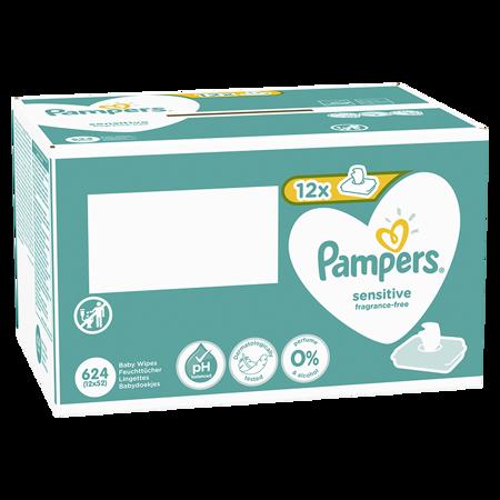 Pampers® Salvietine idratanti Sensitive 12x52 pezzi