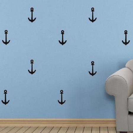 Immagine di Pick Art Design® Adesivo da paretè ancora Nera