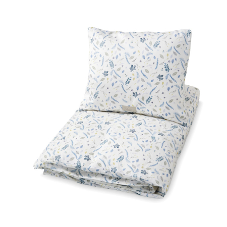 Immagine di CamCam® Biancheria da letto Pressed Leaves Blue Junior 100x140, 45x40