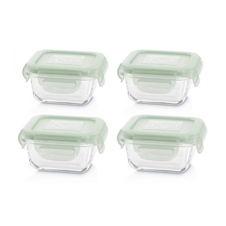 Immagine di Miniland® Set 4 contenitori in vetro 160ml Chip