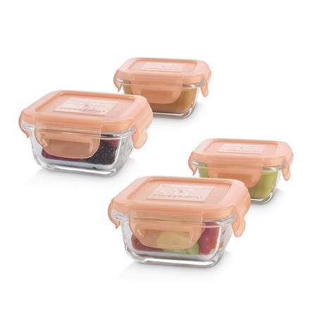 Immagine di Miniland® Set 4 contenitori in vetro 160ml Bunny