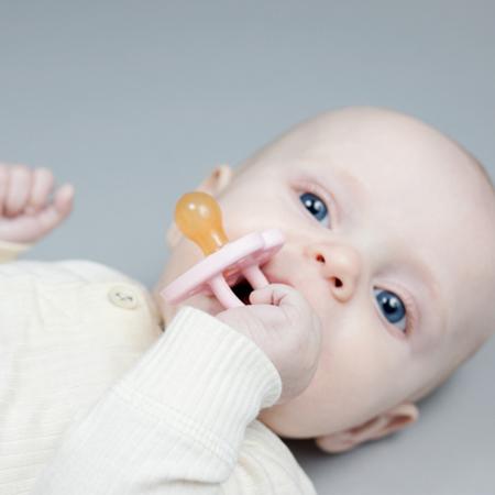 Immagine di Hevea® Ciuccio in caucciù PAPERA (0-3m) Baby Blue