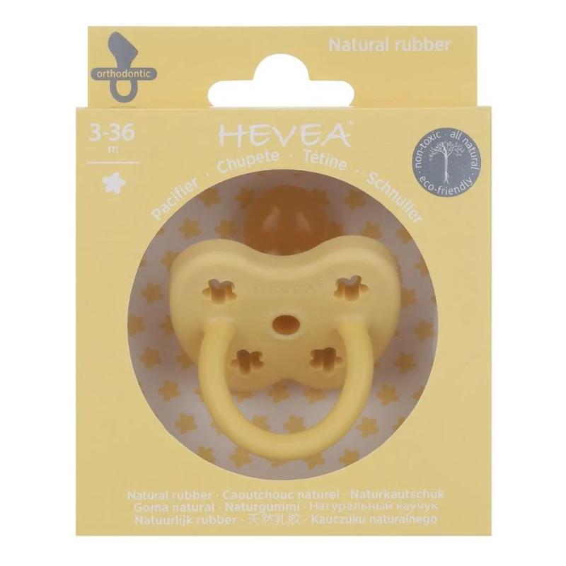 Immagine di Hevea® Ciuccio ortodontico in caucciù Colourful (3-36m) Banana