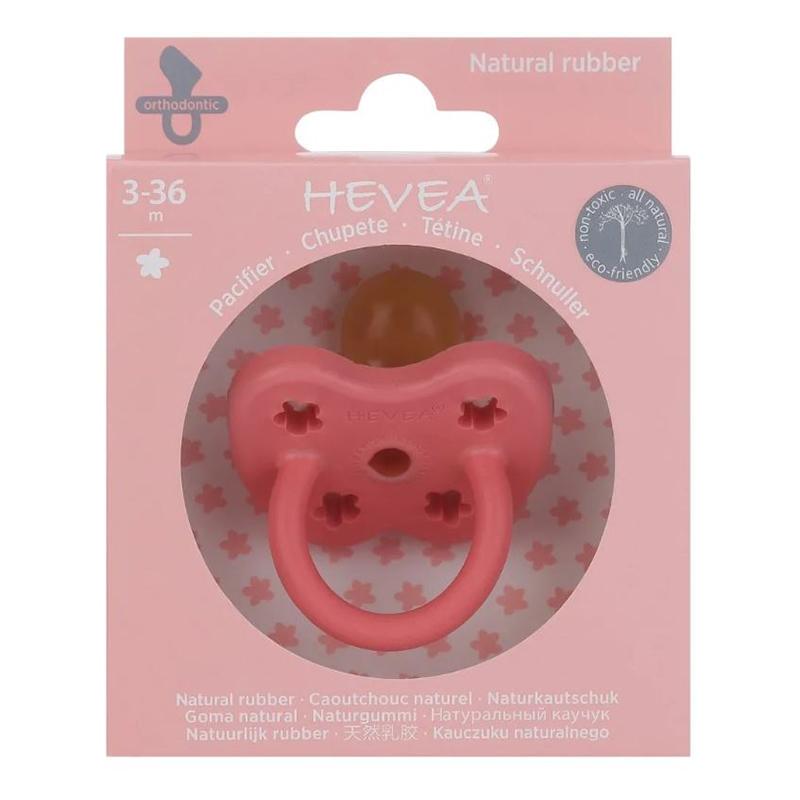 Immagine di Hevea® Ciuccio ortodontico in caucciù Colourful (3-36m) Coral