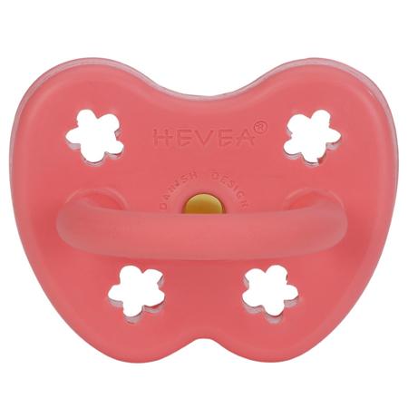 Hevea® Ciuccio ortodontico in caucciù Colourful (3-36m) Coral