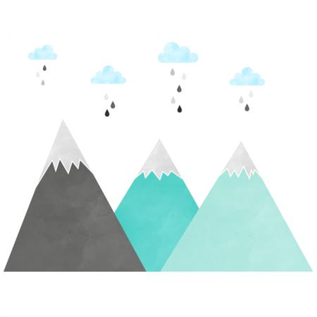 Immagine di Yokodesign®   Adesivo da parete  Montagne 196x96