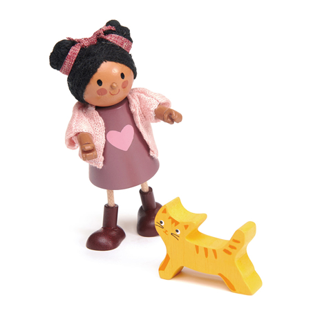 Immagine di Tender Leaf Toys® Bambola Ayana con il gatto Ayana and her Cat