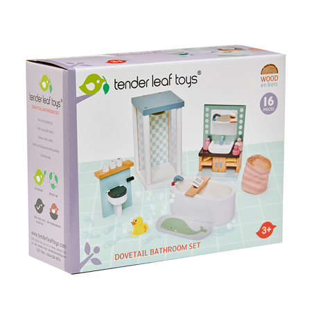 Immagine di Tender Leaf Toys® Bagno per le bambole Dolls House Bathroom Furniture