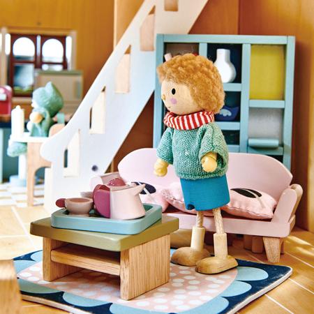 Immagine di Tender Leaf Toys® Salotto per le bambole Dolls House Sitting Room Furniture