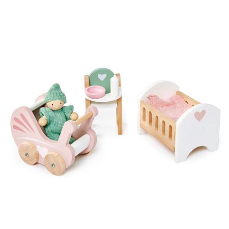 Immagine di Tender Leaf Toys® Arredamento per la casetta Dolls House Nursery Set