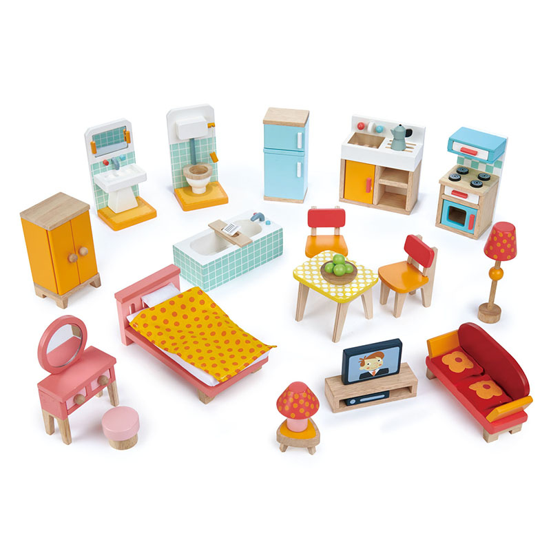 Immagine di Tender Leaf Toys® Set mobili Townhouse Furniture Set