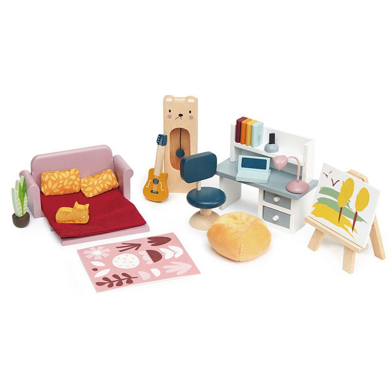 Immagine di Tender Leaf Toys® Set mobili per le bambole Dolls House Study Furniture