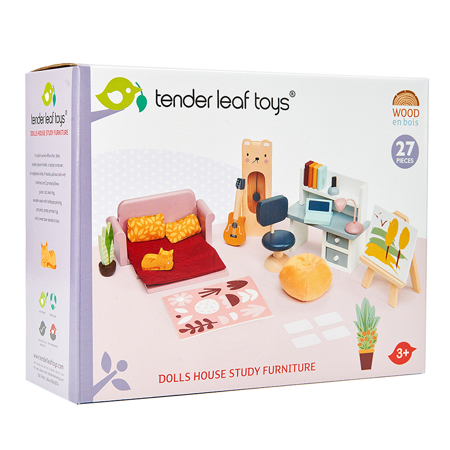 Immagine di Tender Leaf Toys® Set mobili per le bambole Dolls House Study Furniture