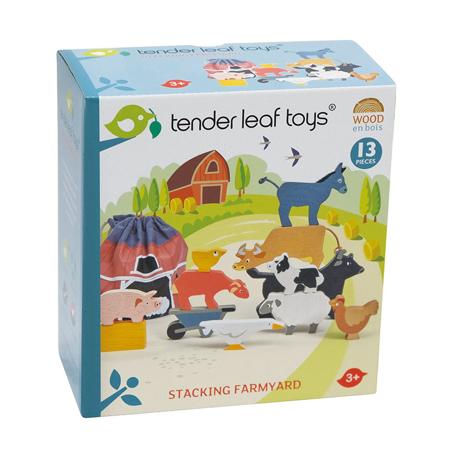 Immagine di Tender Leaf Toys® Gli animali della fattoria Stacking Farmyard
