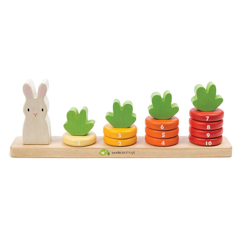 Immagine di Tender Leaf Toys® Gioco di attività carote Counting Carrots