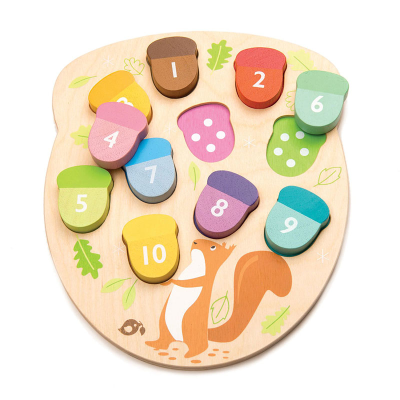 Immagine di Tender Leaf Toys® Gioco dei numeri How Many Acorns?